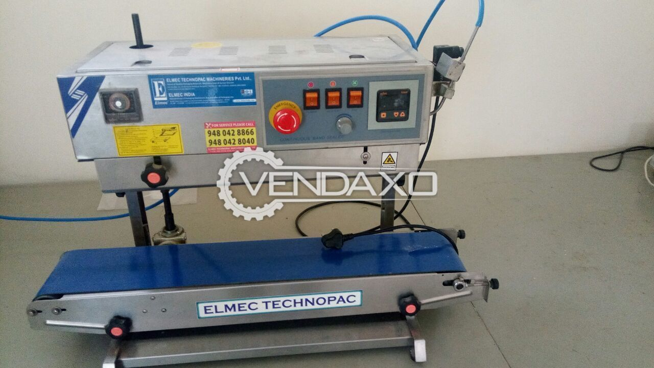 Elmech Vertical Continuous Band Sealing Machine