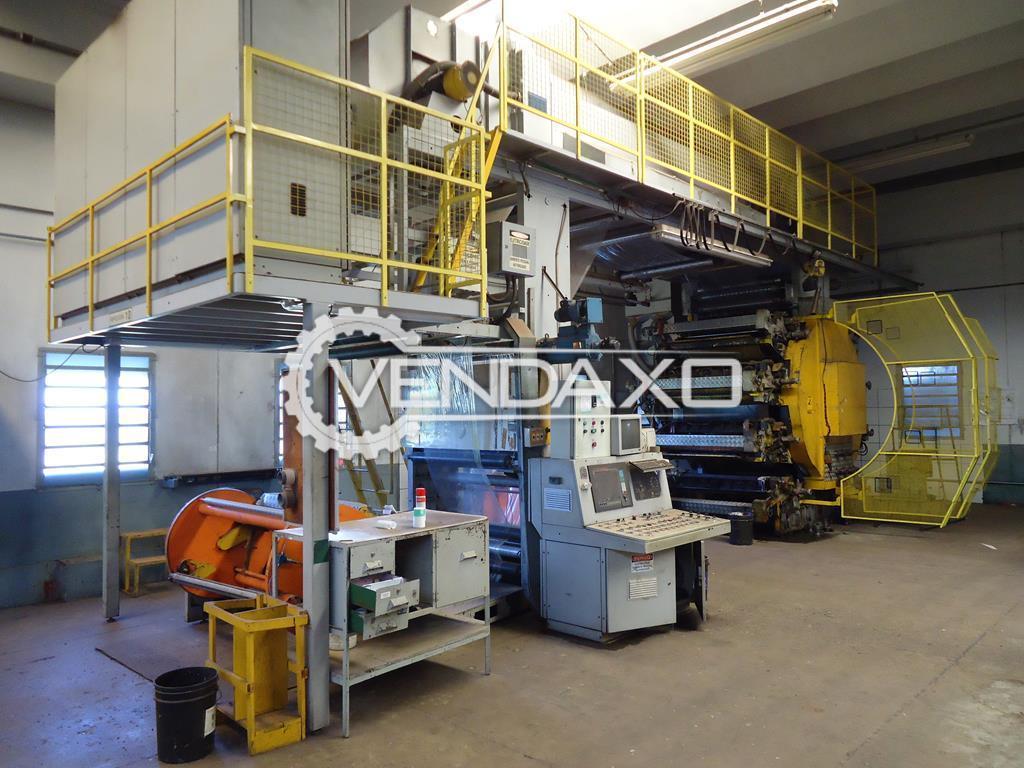 Servimec Flexographic Printer with Doctor Blade - 8 Color, 300 M/Min