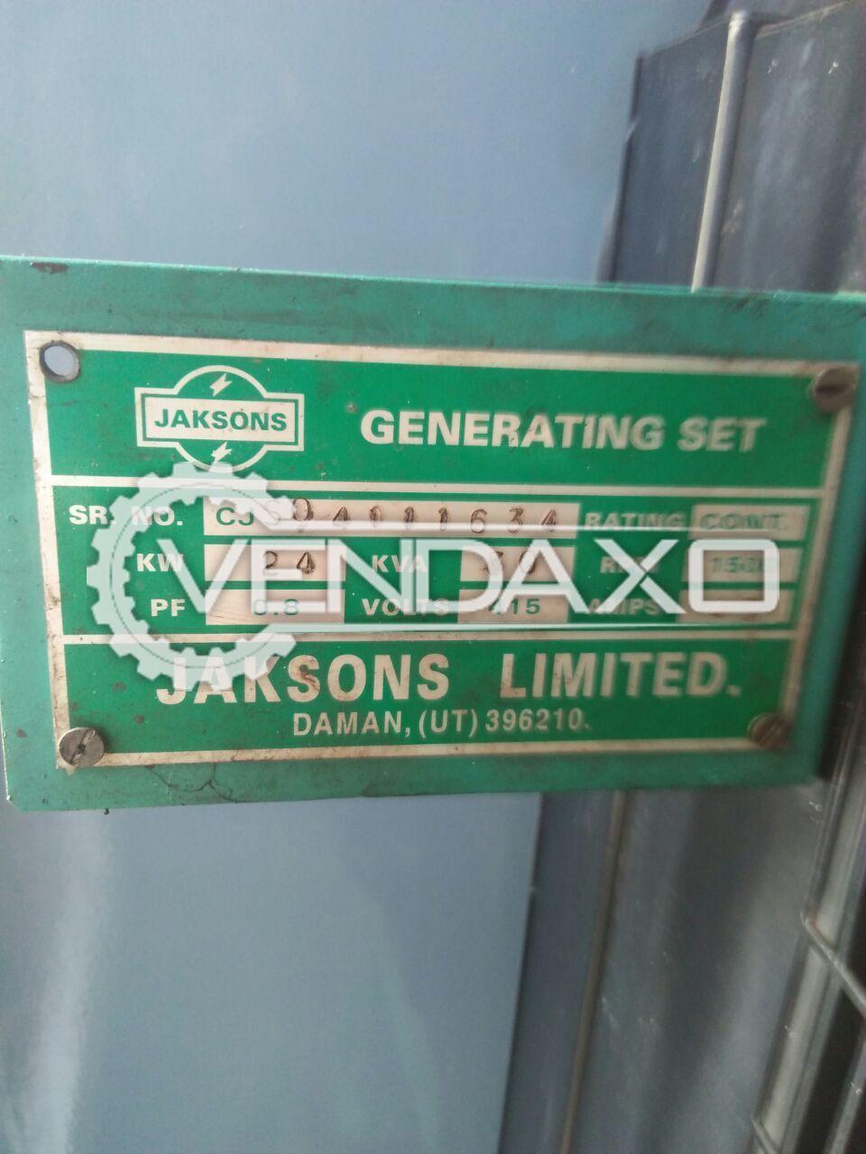 Jackson Diesel Generator - 30 Kva