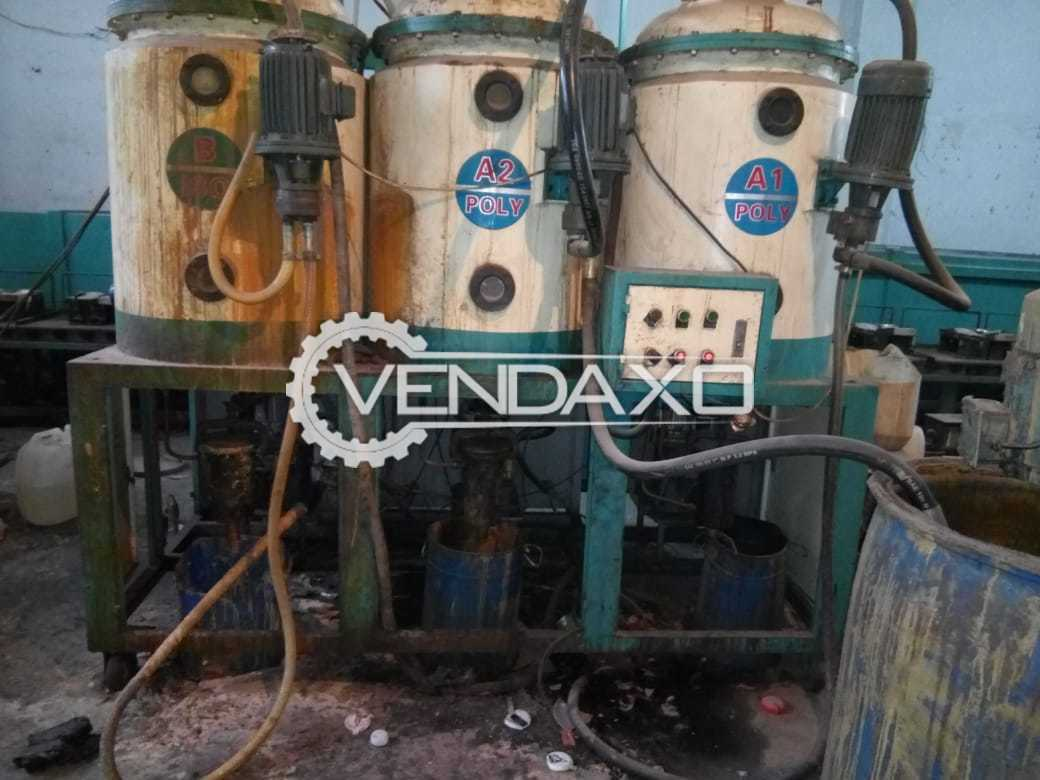 60 Station Color Dosing PU Pouring Machine Plant