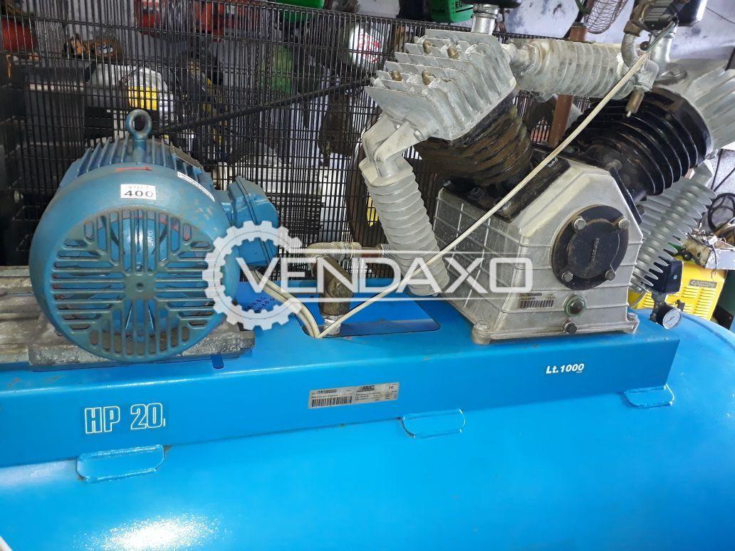 ABAC BV8900/1000 Air Compressor - 20 HP, 1000 Liter