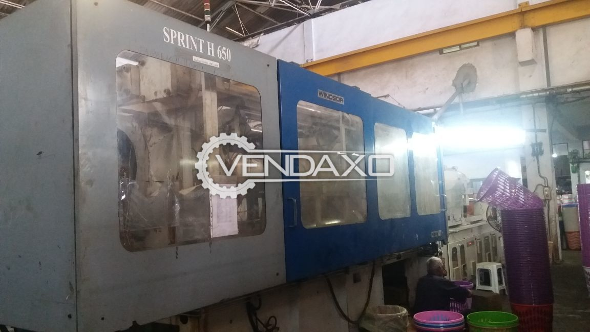 Windsor Sprint H-650 Plastic Injection Moulding Machine - 650 Ton