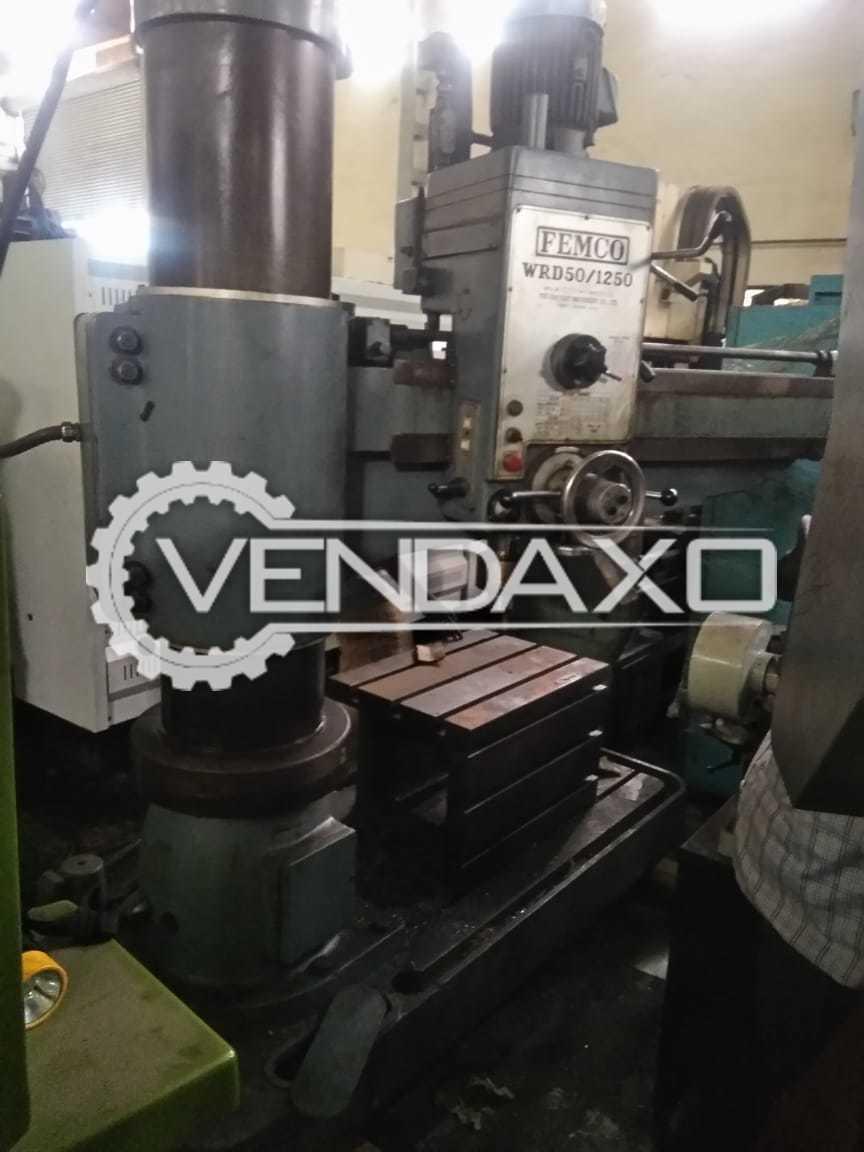 Femco WRD-50/1250 Radial Drill Machine - 50 MM