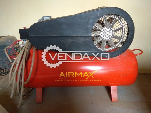 Airmax Double Cylinder Air Compressor With Crompton Greaves Motor and 15 Meters Pipe