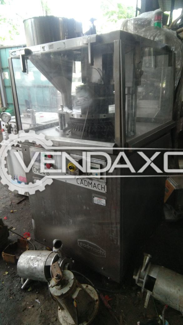 Cadmach 16 Station D Tooling Tablet Machine