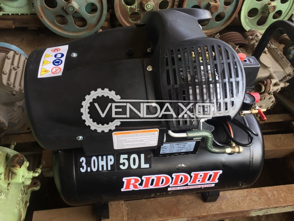 RIDDHI Air Compressor - 3 HP , 50 Liter