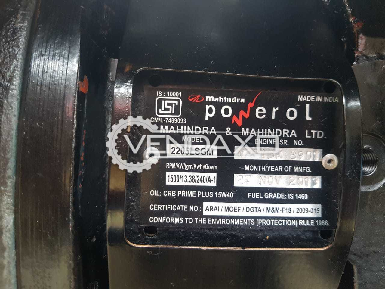 Mahindra Diesel Generator - 15 Kva