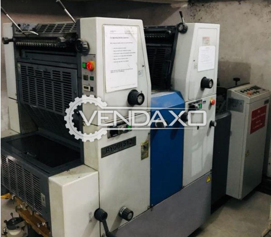 RYOBI 512CR Offset Printing Machine - 15 x 20 Inch , 2 Color