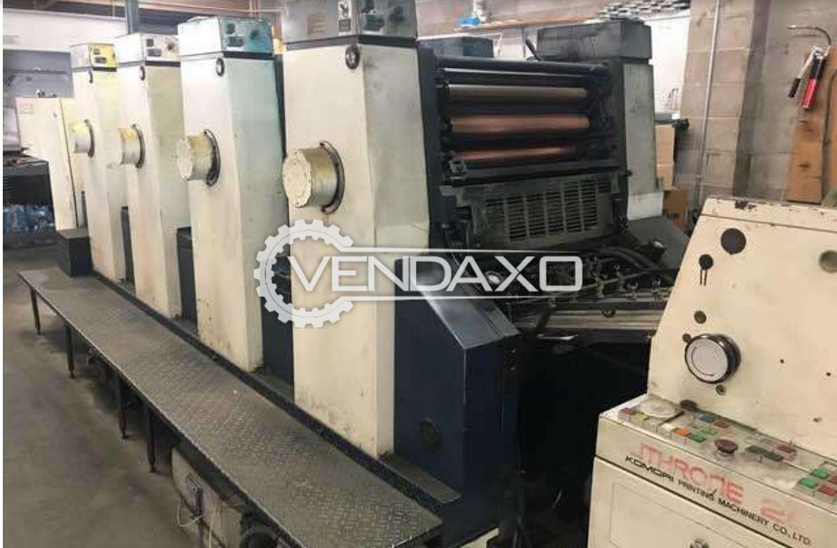 KOMORI LITHRONE 426 Offset Printing Machine - 20 x 26 Inch , 4 Color