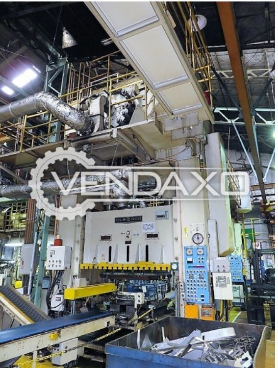 OKK CLM-2-300 Straight Side Double Crank Press - 300 Ton