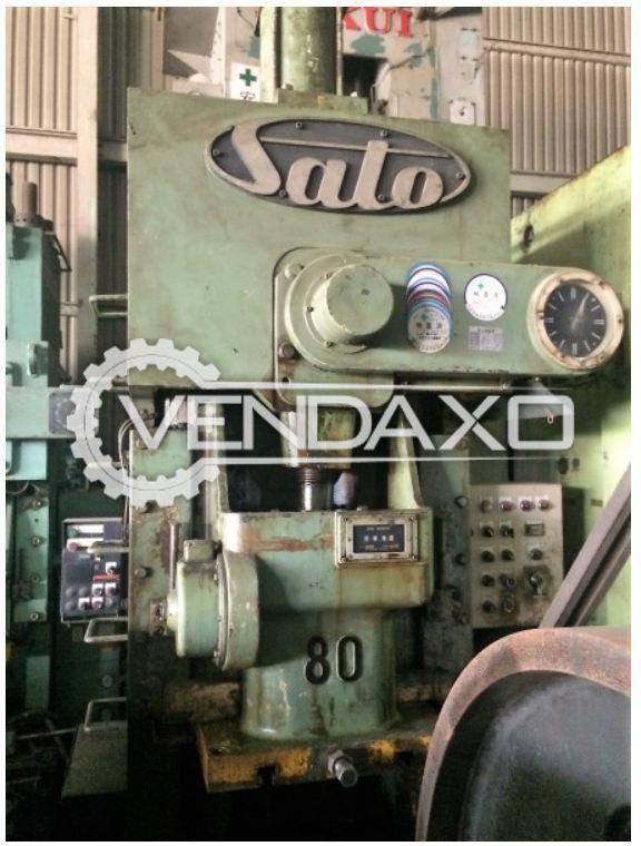 SATO CSP-1-80-95-55 'C' Frame Press - 80 Ton