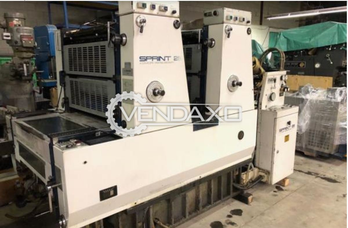 Komori lithrone 225 offset printing machine 19 x 25 inch 2 color 1
