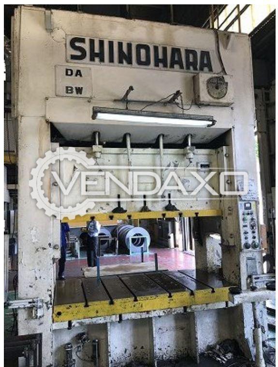 SHINOHARA DA-200 Straight Side Double Crank Press - 200 Ton