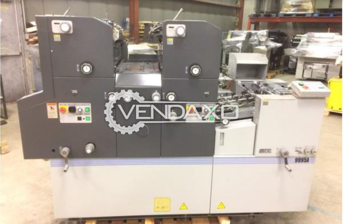 ABDICK 9995A Offset Printing Machine - 13 x 18 Inch , 2 Color