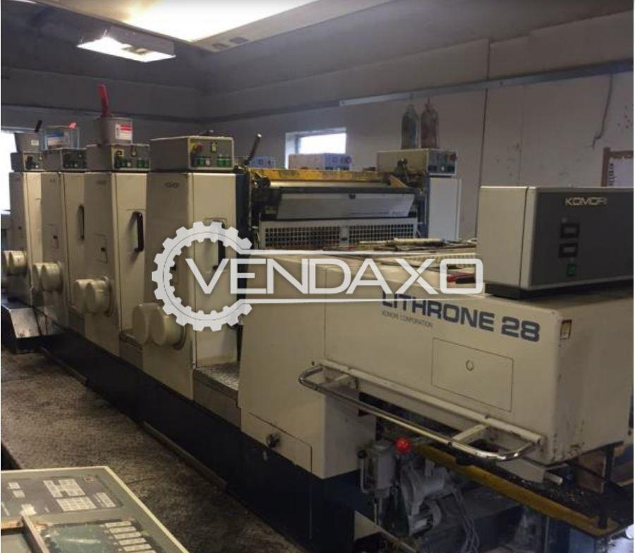 KOMORI LITHRONE 428 ES Offset Printing Machine - 20 x 28 Inch