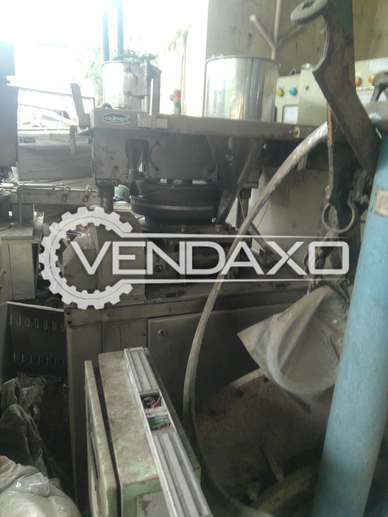 Cadmach 45 Station D Tooling Tablet Machine