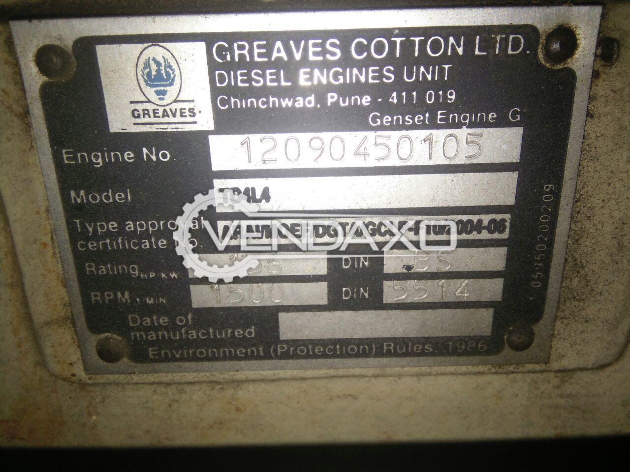 Greves TD4LA Diesel Generator - 125 Kva