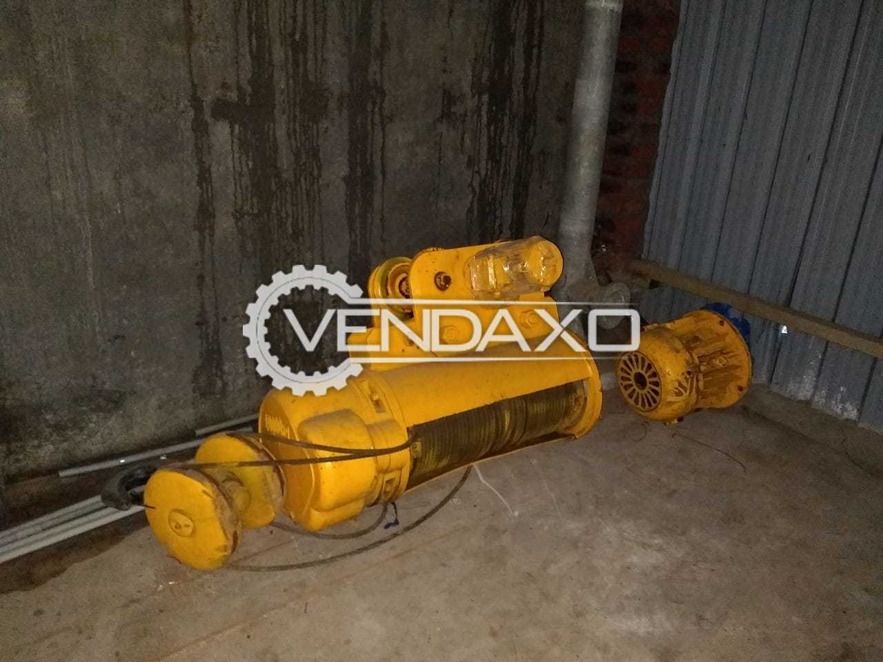 AXA Crane With Wire Rope And Motor - 10 Ton