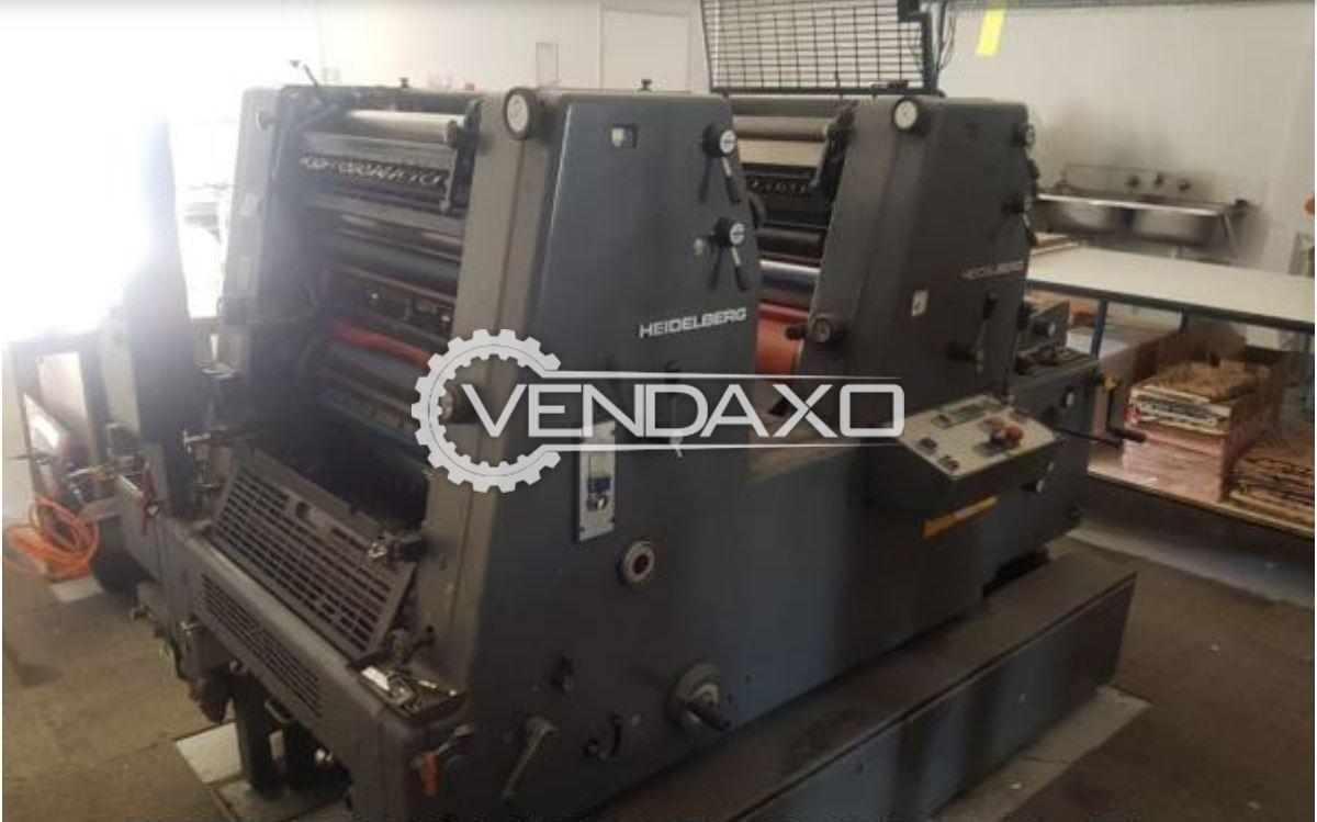 Heidelberg GTO 52 Z Offset Printing Machine - 2 Color