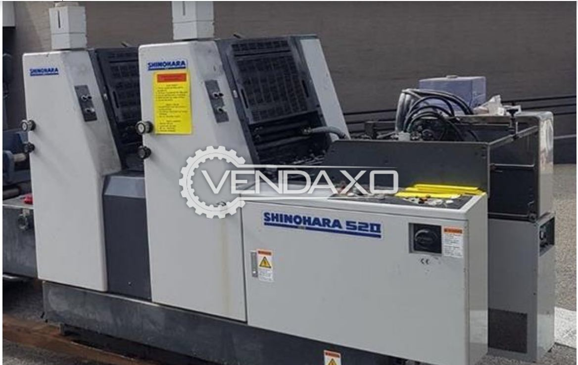 SHINOHARA 52-2 Offset Printing Machine - 15 x 20 Inch , 2 Color