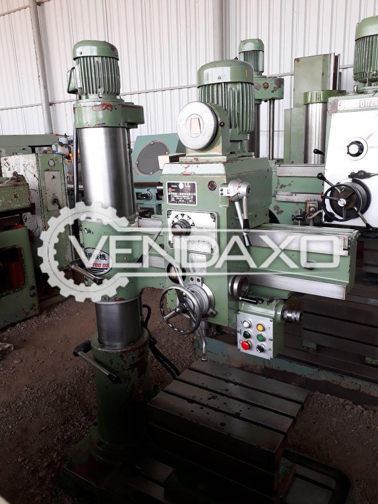 Bergonzi Radial Drill Machine - 45 MM , 1250 mm Arm Length