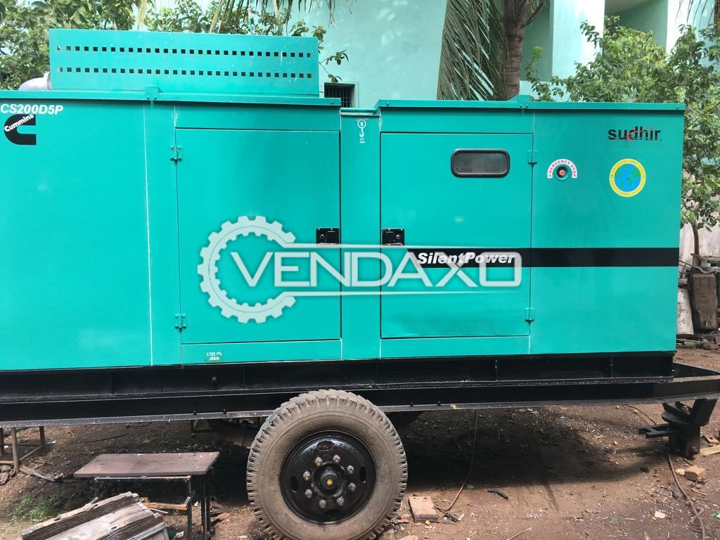 CUMMINS Diesel Generator - 200 KVA With Trolly