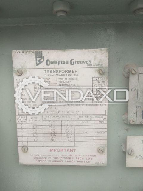 Crompton Greves Transformer - 2000 KVA