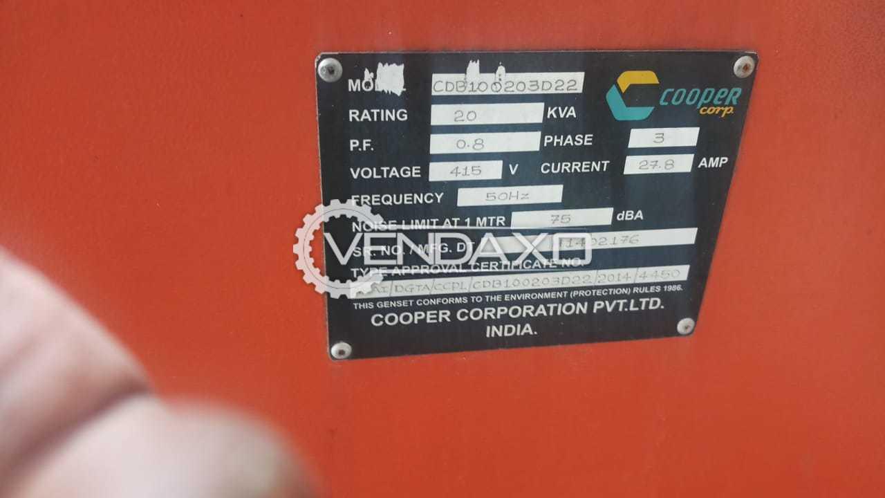 Cooper Diesel Generator - 20 KVA