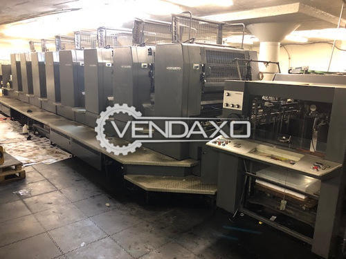 Heidelberg 102-6LX Offset Printing Machine - 28 x 40 Inch , 6 Color Coater