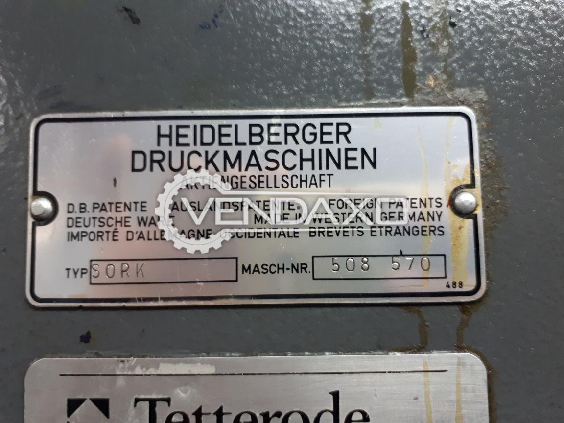 Heidelberg SORK Offset Printing Machine - 19 × 25 Inch , Single Color