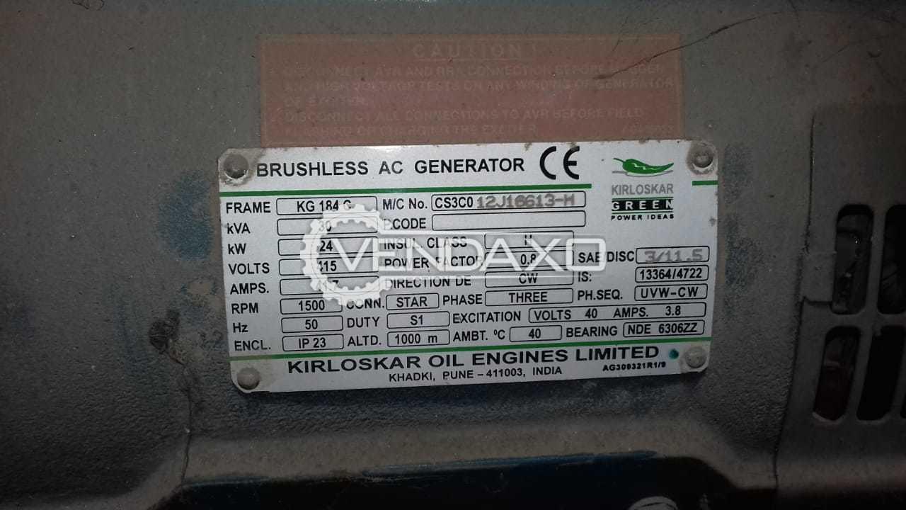 Kirloskar Diesel Generator - 30 Kva , 24 KW