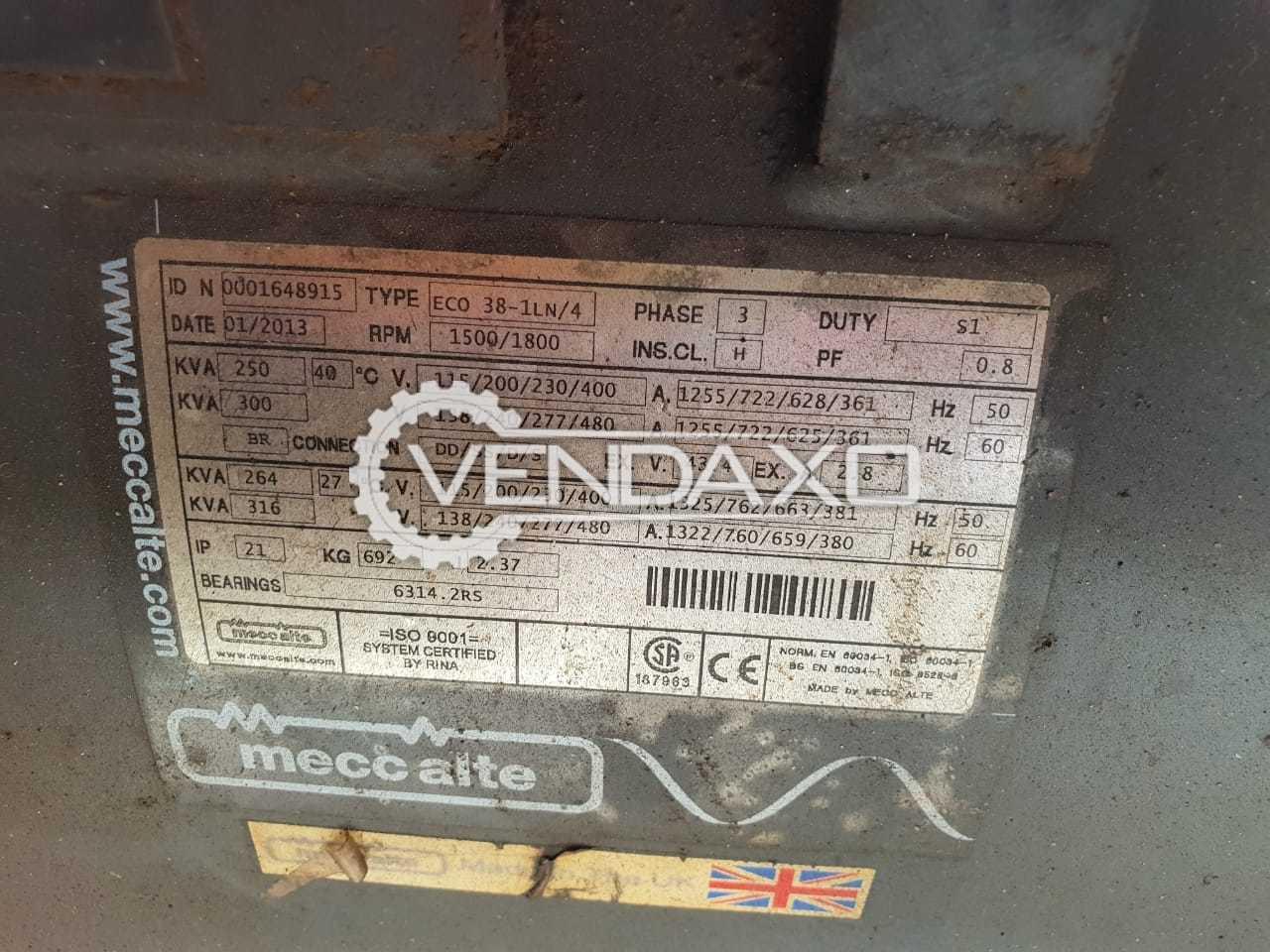 Mecc Alte Diesel Generator - 250 Kva With Perkins Engine