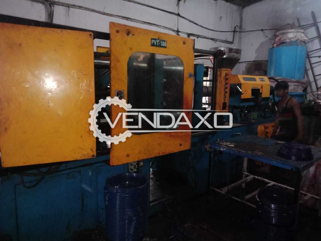 Pratishna PVT-180 Injection Moulding Machine - 180 Ton