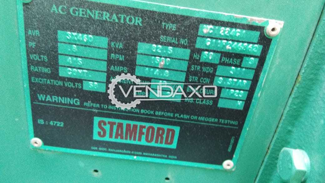 CUMMINS Diesel Generator - 82.5 Kva