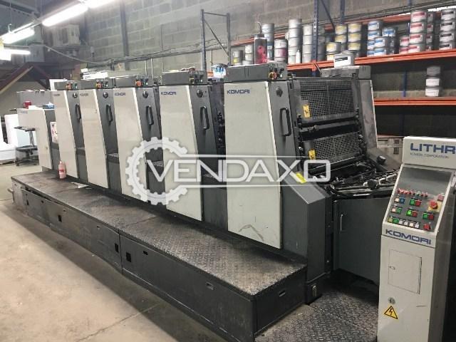 KOMORI LITHRONE 526 Offset Printing Machine - 19 x 26 Inch , 5 Color
