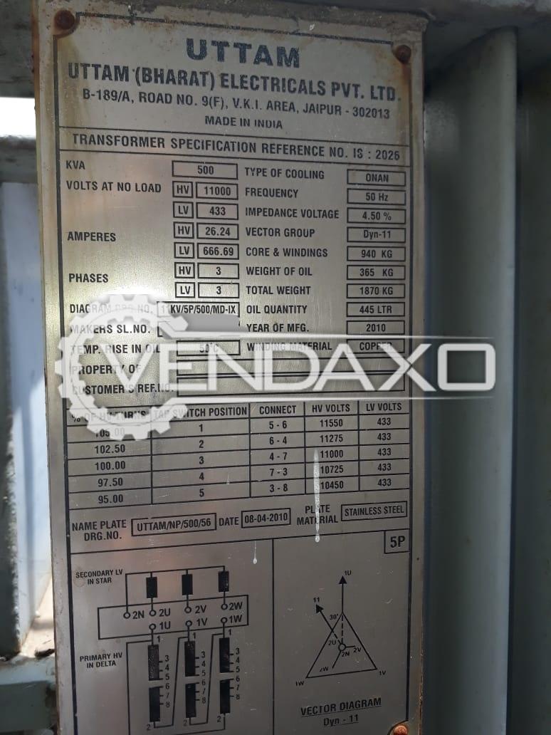 Uttam Bharat Transformer - 500 Kva