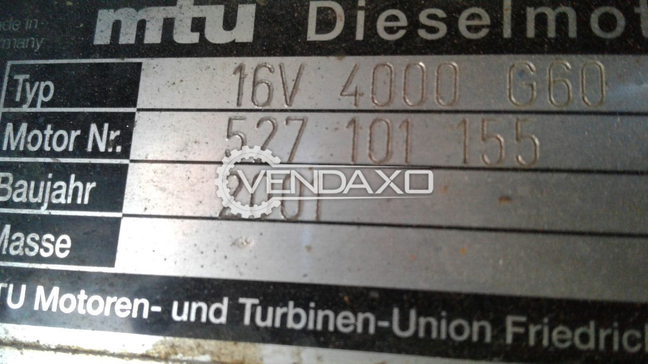 MTU Diesel Generator - 2000 KVA , 2001 Model