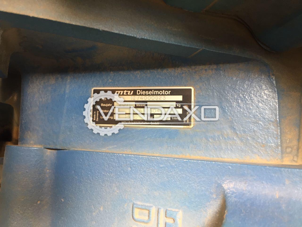 MTU 12V4000G23 Diesel Generator - 1650 KVA , 2011 Model