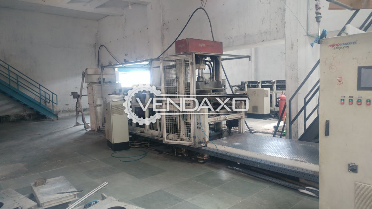 RAJOO ENGINEERS Thermocol Disposable Plate Machine With Sheet Line