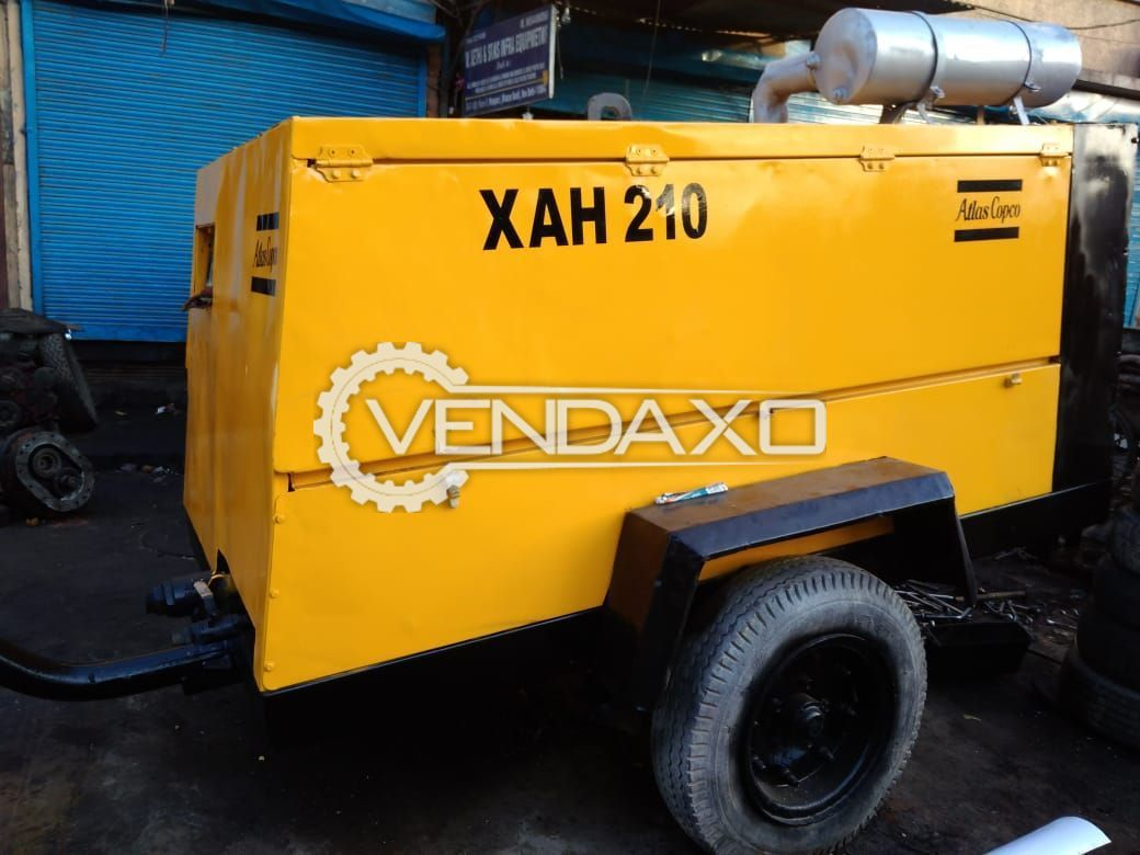 Atlas Copco XAH-210 Air Compressor - 2008 Model