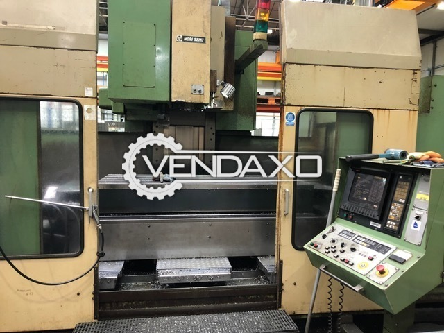 Mori seiki mv80 cnc vertical machining center with twin pallets and 4th axis 1