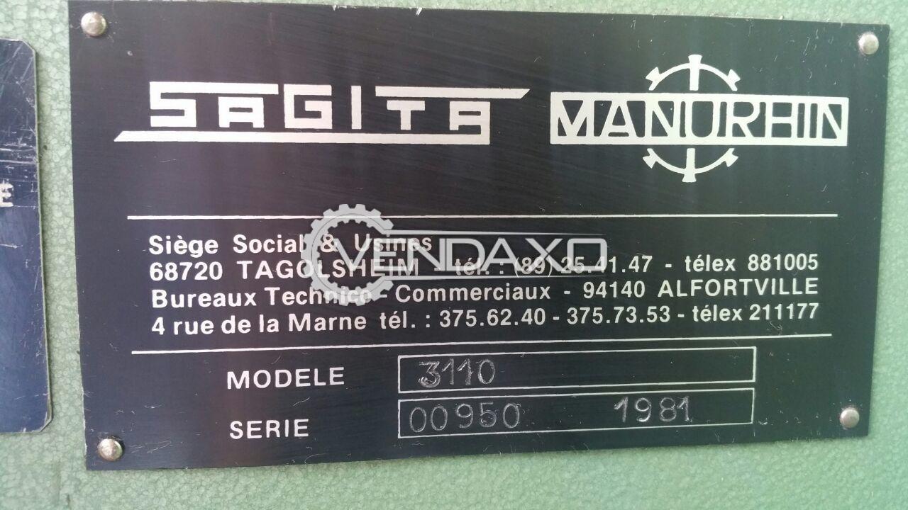 SAGITA Manurhin 3110 Shearing Machine -3000 mm x 10 mm