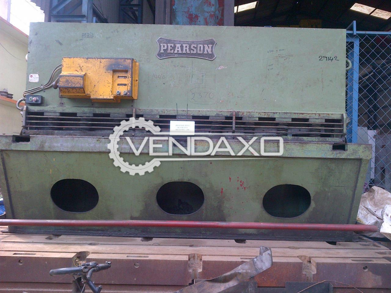 Pearson Hydraulic Shearing Machine - 2500 mm X 13 mm