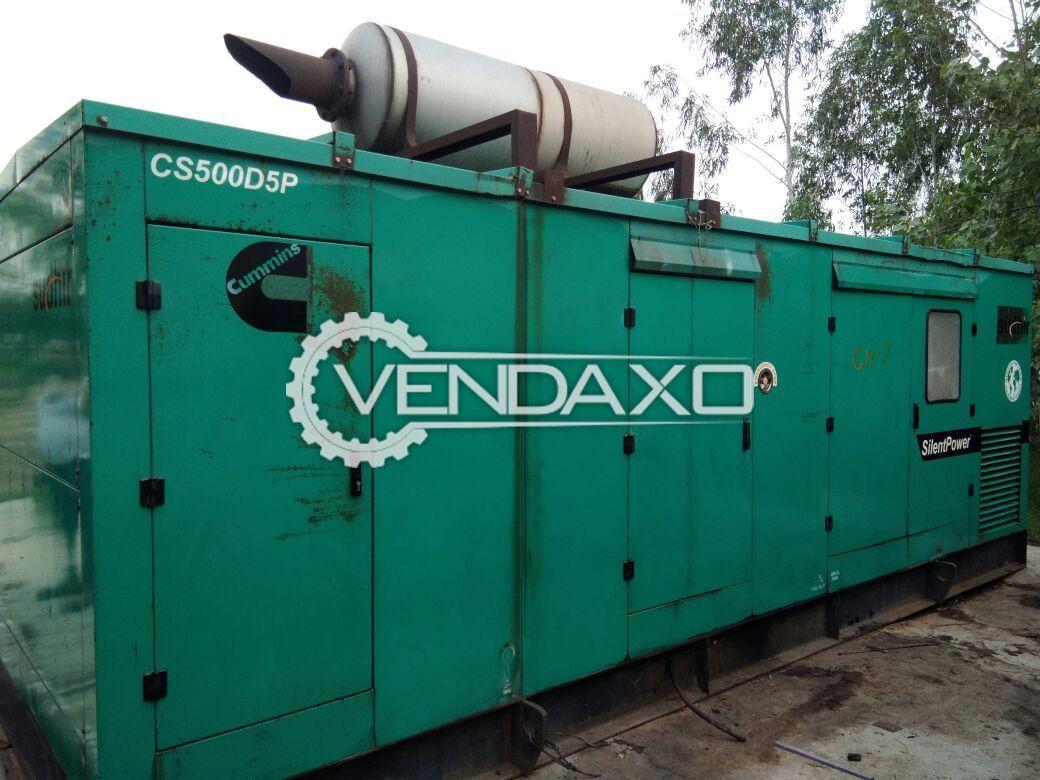 Cummins Silent Diesel Generator - 500 Kva , 2009 Model