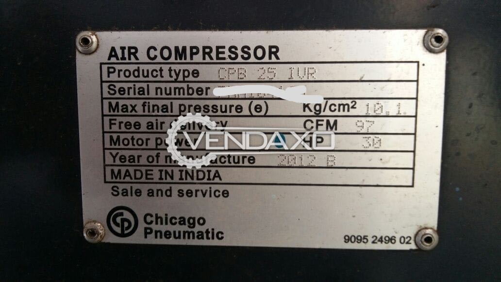 Chicago Pneumatic CPB 25 IVR  Air Compressor , 2012 Model