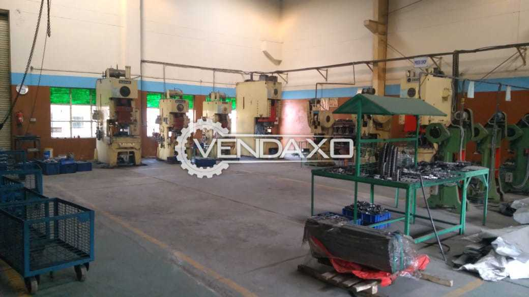 Available For Sale Pnuematic Press , Mechanical Power Press , Panasonic MIG Welding , Lathe , Grinder , Drilling , Air Compressor , YLM Semi Auto Pipe Cutting Machine
