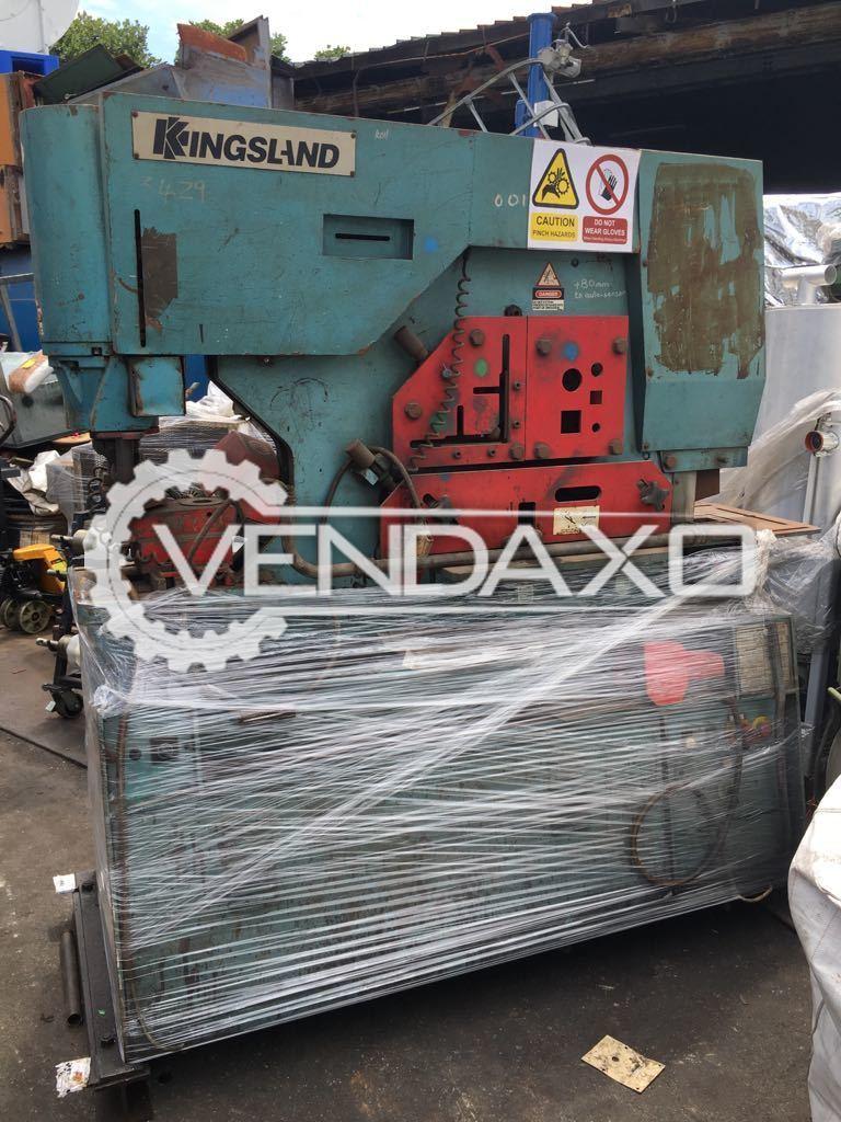 Kingsland Hydraulic Ironworker - 85 Ton