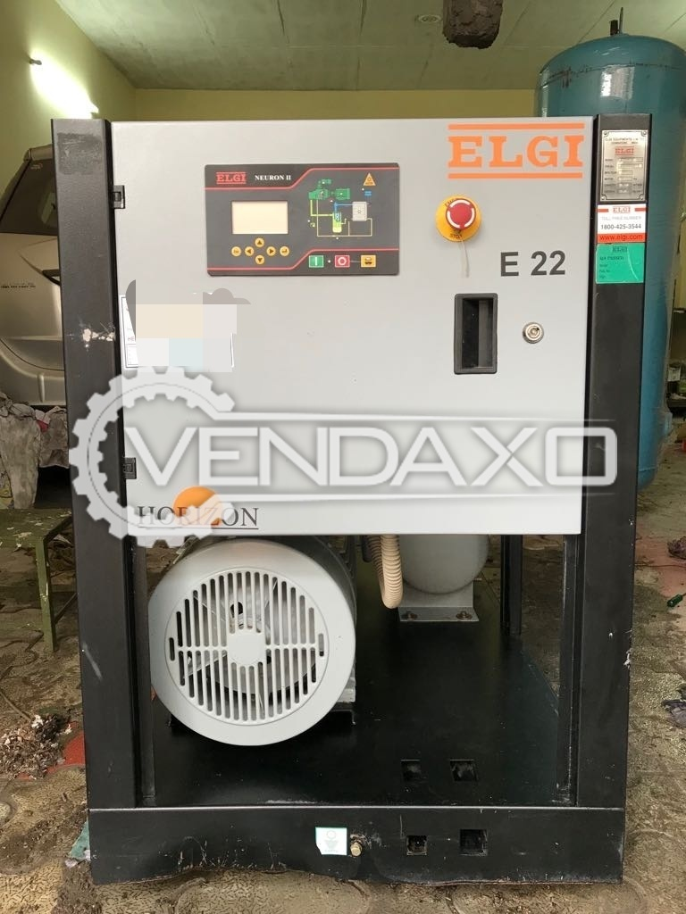 ELGI E22 Rotary Screw Air Compressors - 30 HP, 22 KW - 2012 Model