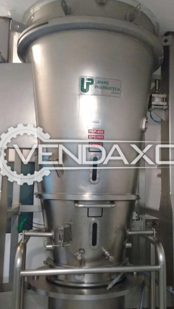 Umang Pharma Tech Fluid Bed Coater (FBC) - 400 Liter