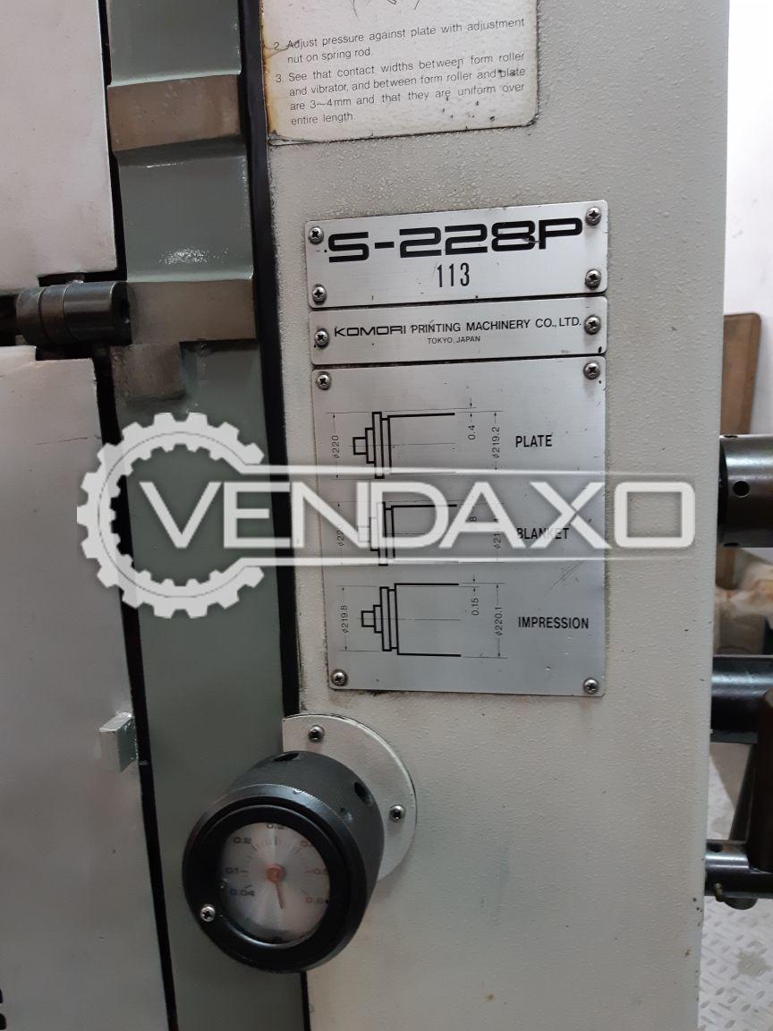 Komori sprint 228p offset printing machine 520 720 mm 2 color 1